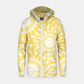 Thumbnail image of Abstract Sunflowers Zip up hoodie, Live Heroes