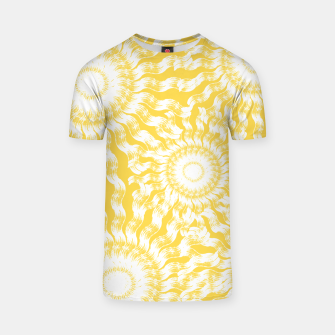 Miniatur Abstract Sunflowers T-shirt, Live Heroes