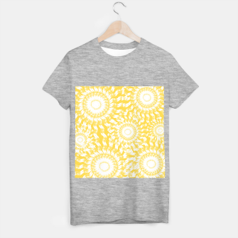 Miniatur Abstract Sunflowers T-shirt regular, Live Heroes