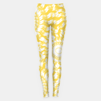 Miniatur Abstract Sunflowers Leggings, Live Heroes