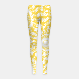 Miniatur Abstract Sunflowers Girl's leggings, Live Heroes