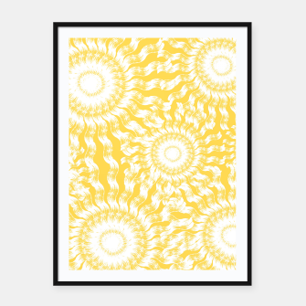 Miniaturka Abstract Sunflowers Framed poster, Live Heroes