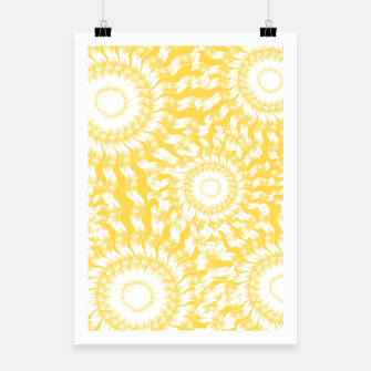 Miniaturka Abstract Sunflowers Poster, Live Heroes