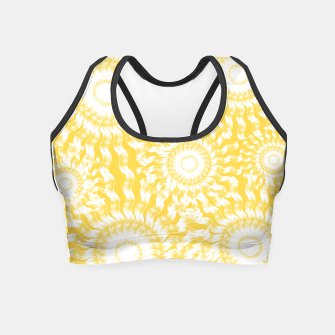 Miniatur Abstract Sunflowers Crop Top, Live Heroes