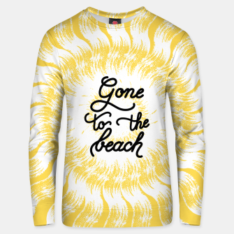 Miniatur Gone to the beach (Yellow) Unisex sweater, Live Heroes