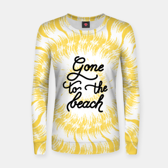 Gone to the beach (Yellow) Women sweater imagen en miniatura