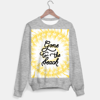 Gone to the beach (Yellow) Sweater regular imagen en miniatura