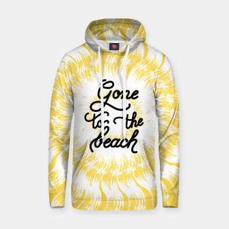 Gone to the beach (Yellow) Hoodie imagen en miniatura