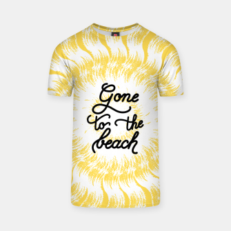 Gone to the beach (Yellow) T-shirt imagen en miniatura