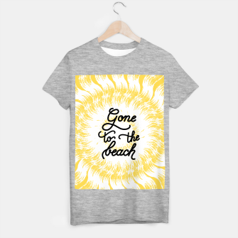 Gone to the beach (Yellow) T-shirt regular imagen en miniatura