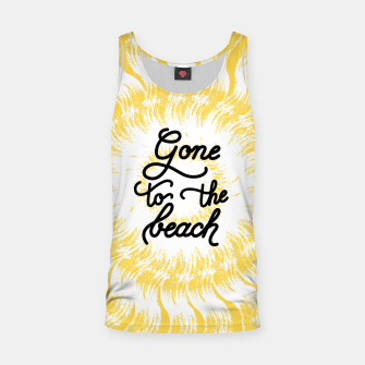 Gone to the beach (Yellow) Tank Top imagen en miniatura