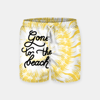 Gone to the beach (Yellow) Swim Shorts imagen en miniatura