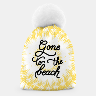 Gone to the beach (Yellow) Beanie imagen en miniatura