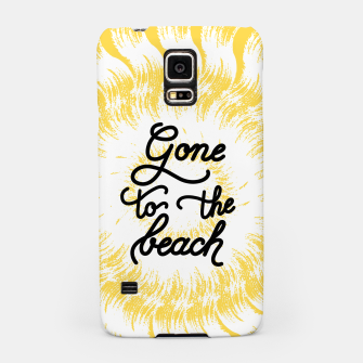 Gone to the beach (Yellow) Samsung Case imagen en miniatura