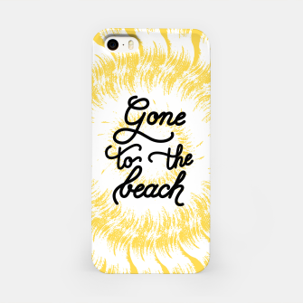 Gone to the beach (Yellow) iPhone Case imagen en miniatura