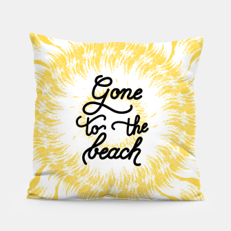 Gone to the beach (Yellow) Pillow imagen en miniatura