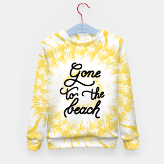 Gone to the beach (Yellow) Kid's sweater imagen en miniatura