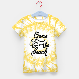 Gone to the beach (Yellow) Kid's t-shirt imagen en miniatura