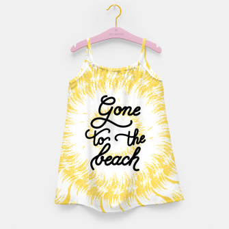 Gone to the beach (Yellow) Girl's dress imagen en miniatura
