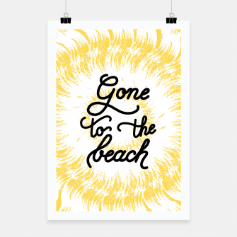 Gone to the beach (Yellow) Poster imagen en miniatura