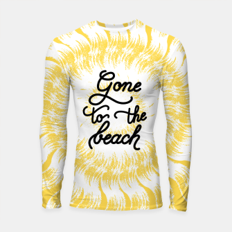 Gone to the beach (Yellow) Longsleeve rashguard  imagen en miniatura