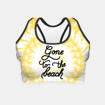 Gone to the beach (Yellow) Crop Top imagen en miniatura