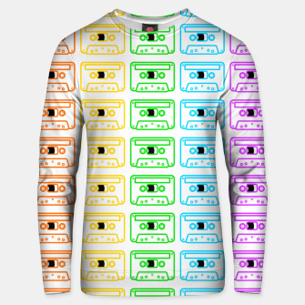 Thumbnail image of Mix tape pattern Unisex sweater, Live Heroes