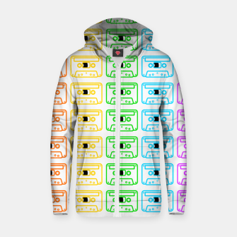 Thumbnail image of Mix tape pattern Zip up hoodie, Live Heroes