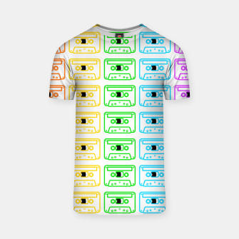 Thumbnail image of Mix tape pattern T-shirt, Live Heroes