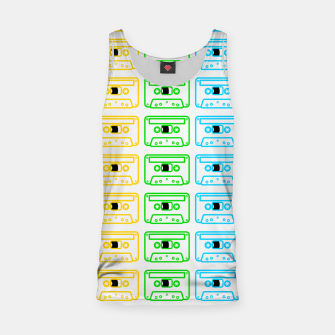 Thumbnail image of Mix tape pattern Tank Top, Live Heroes