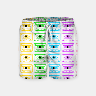 Imagen en miniatura de Mix tape pattern Swim Shorts, Live Heroes