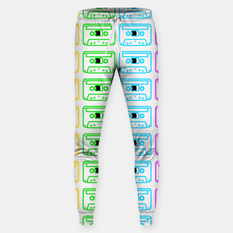 Thumbnail image of Mix tape pattern Sweatpants, Live Heroes