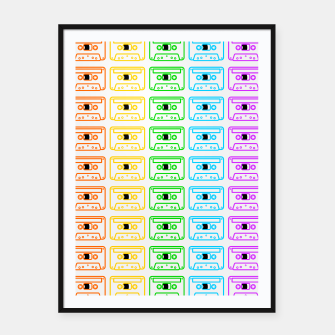 Miniaturka Mix tape pattern Framed poster, Live Heroes