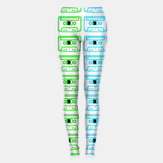 Thumbnail image of Mix tape pattern Leggings, Live Heroes
