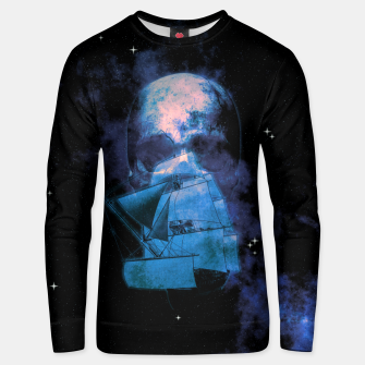 Miniatur Cosmic Pirate Ship Skull Illustration Unisex sweatshirt, Live Heroes