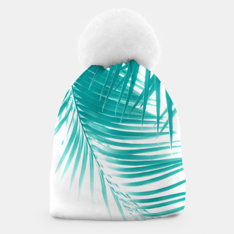 Palm Leaves Soft Turquoise Summer Vibes #1 #tropical #decor #art Mütze obraz miniatury