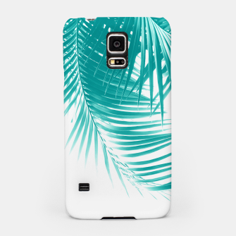 Palm Leaves Soft Turquoise Summer Vibes #1 #tropical #decor #art Handyhülle für Samsung obraz miniatury