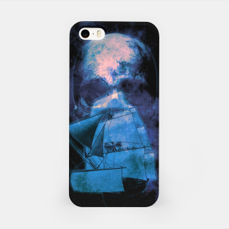 Thumbnail image of Cosmic Pirate Ship Skull Illustration iPhone-Hülle, Live Heroes