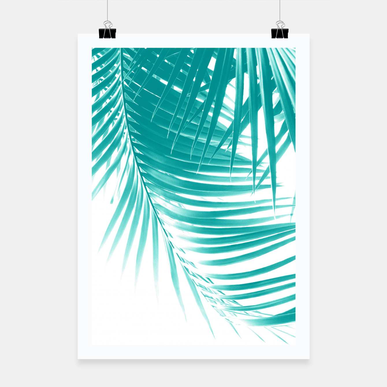 Zdjęcie Palm Leaves Soft Turquoise Summer Vibes #1 #tropical #decor #art Plakat - Live Heroes