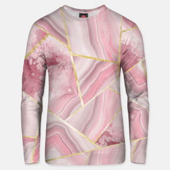 Blush Agate Gold Geometric Summer Glam #1 #geo #decor #art Unisex sweatshirt obraz miniatury