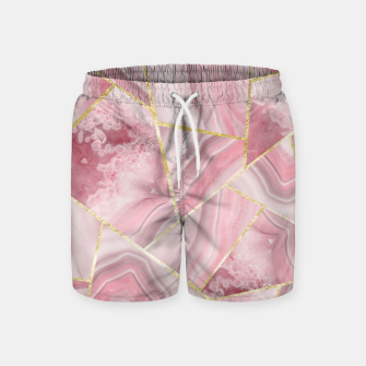 Blush Agate Gold Geometric Summer Glam #1 #geo #decor #art Badeshorts obraz miniatury