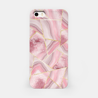 Blush Agate Gold Geometric Summer Glam #1 #geo #decor #art iPhone-Hülle obraz miniatury