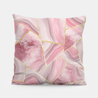 Imagen en miniatura de Blush Agate Gold Geometric Summer Glam #1 #geo #decor #art Kissen, Live Heroes