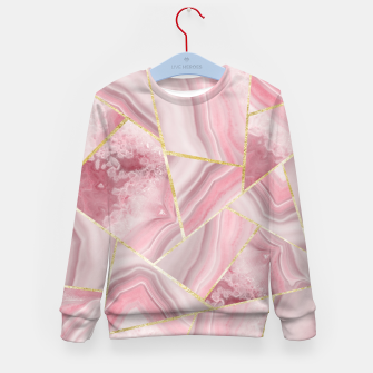 Miniaturka Blush Agate Gold Geometric Summer Glam #1 #geo #decor #art Kindersweatshirt, Live Heroes