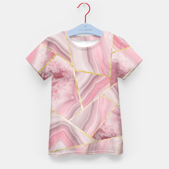 Blush Agate Gold Geometric Summer Glam #1 #geo #decor #art T-Shirt für kinder obraz miniatury