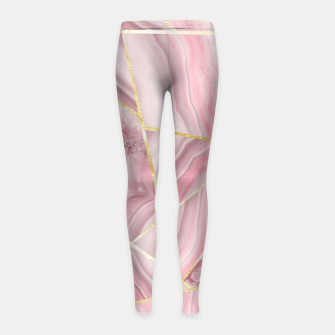 Blush Agate Gold Geometric Summer Glam #1 #geo #decor #art Kinder-Leggins obraz miniatury