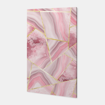 Blush Agate Gold Geometric Summer Glam #1 #geo #decor #art Canvas obraz miniatury