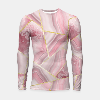 Thumbnail image of Blush Agate Gold Geometric Summer Glam #1 #geo #decor #art Longsleeve rashguard, Live Heroes