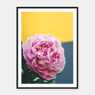 Miniatur Peony Framed poster, Live Heroes