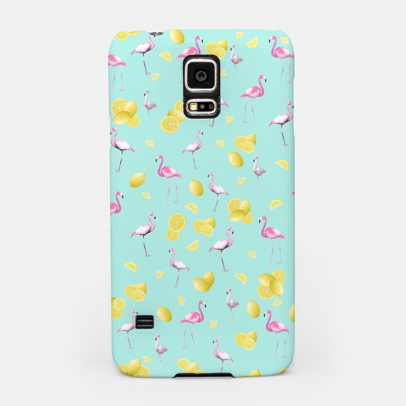 Zdjęcie Flamingo Lemon Twist Summer Pattern #1 (Kids Collection) #decor #art  Handyhülle für Samsung - Live Heroes